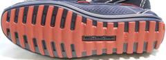 Модные мокасины туфли на плоской подошве Faber 142213-7 Navy Blue.
