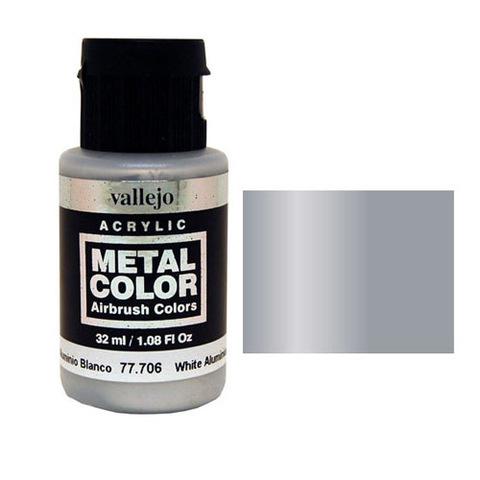 706 Краска Metal Color Белый Алюминий (White Aluminium) укрывистый, 32 мл