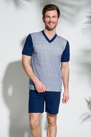 Мужская пижама 8S Roman 001-002 Dark Blue Taro