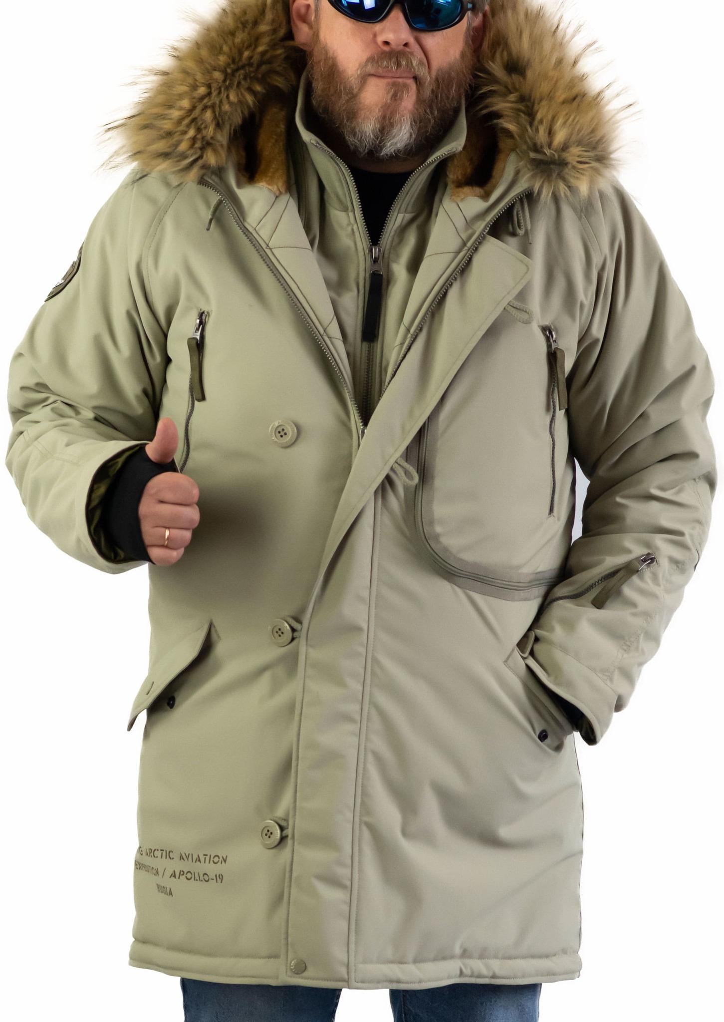 Куртка Аляска  Apolloget Expedition 2019 (хаки - silver green/olive)