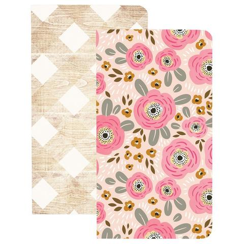 Записные блокноты Color Crush Traveler's Planner Notebooks - 2 шт.-Flowers & Wood