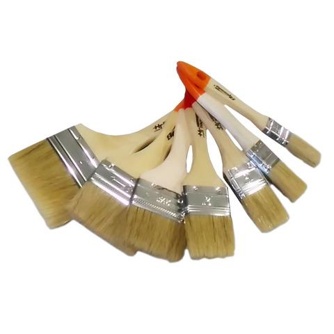 Кисть плоская Спарта с деревянной ручкой, натуральный волос