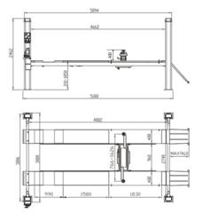 Подъёмник электрогидравлический четырехст. г/п 3,5т STORM STD-6635