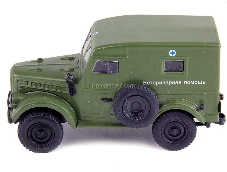 GAZ-69 Veterinary Assistance USSR 1:43 DeAgostini Service Vehicle #36