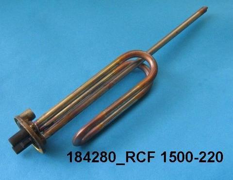 Нагревательный элемент (ТЭН) для водонагревателя Ariston (Аристон) RCF 65111790 с прокладкой в сборе- 1,5кВт 230В, анод M5