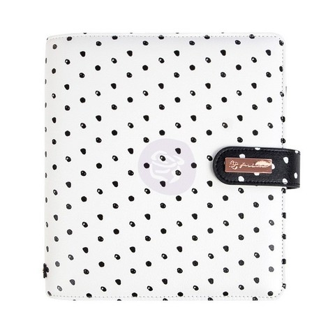 Планер A5 -My Prima Planner-20х23см с наполнением -Breathe - White W/Black Dots