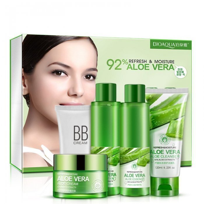 Bioaqua Набор из 5 средств для лица с Алоэ Вера 5-set Refresh & Moisture Aloe Vera 92%