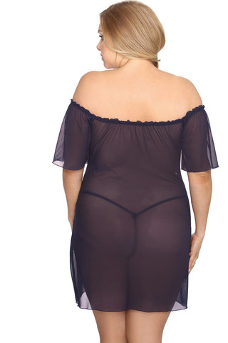 Прозрачная сорочка женская для полных