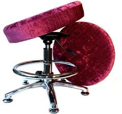 Танцующий Стул для школьника с подставкой для ног, велюр пурпур