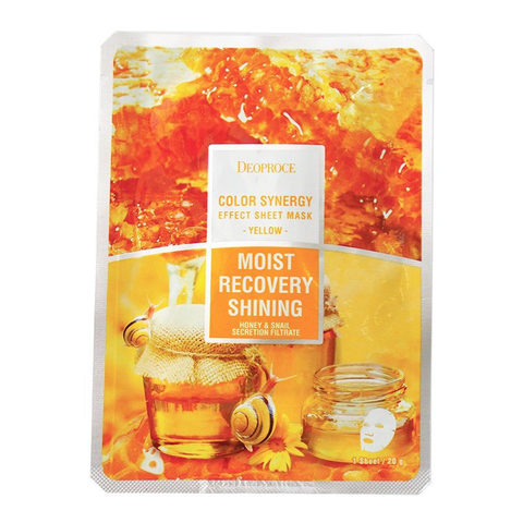 DEOPROCE COLOR SYNERGY EFFECT SHEET MASK YELLOW