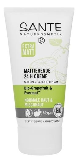 Матирующий крем 24 ч. для любого типа кожи с Био- Грейпфрутом и комплексом Эвермат 50 мл (SANTE)
