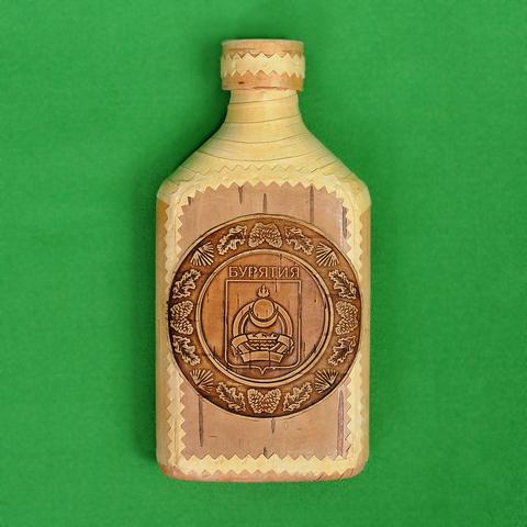 Фляжка, герб Бурятии, 0,25л