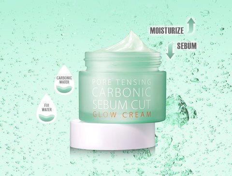 Увлажняющий крем для кожи с расширенными порами, 50 мл / So Natural Pore Tensing Carbonic Sebum Cut Glow Cream