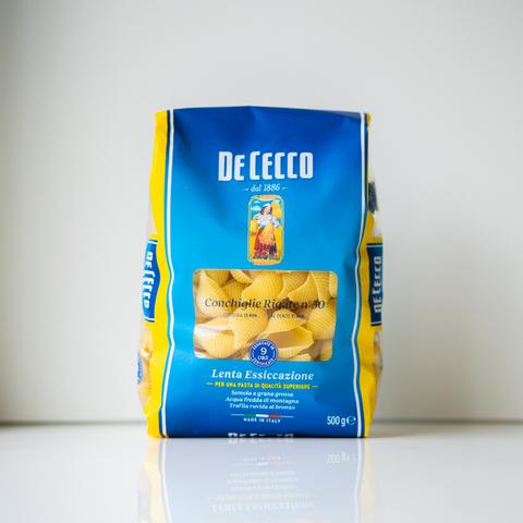 Макароны ракушки Conchiglie Rigate №50, De Cecco, 500 гр