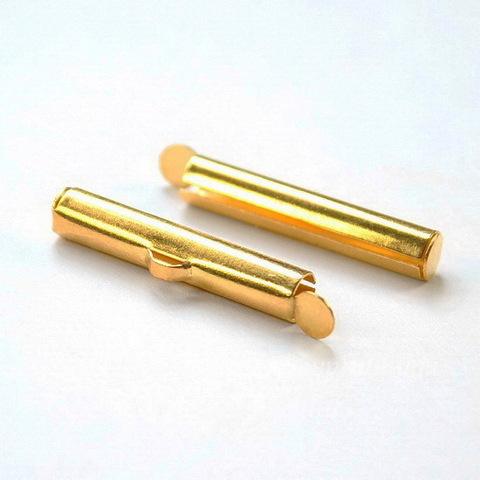 Концевик - трубочка 26х5 мм (цвет - золото), 2 штуки