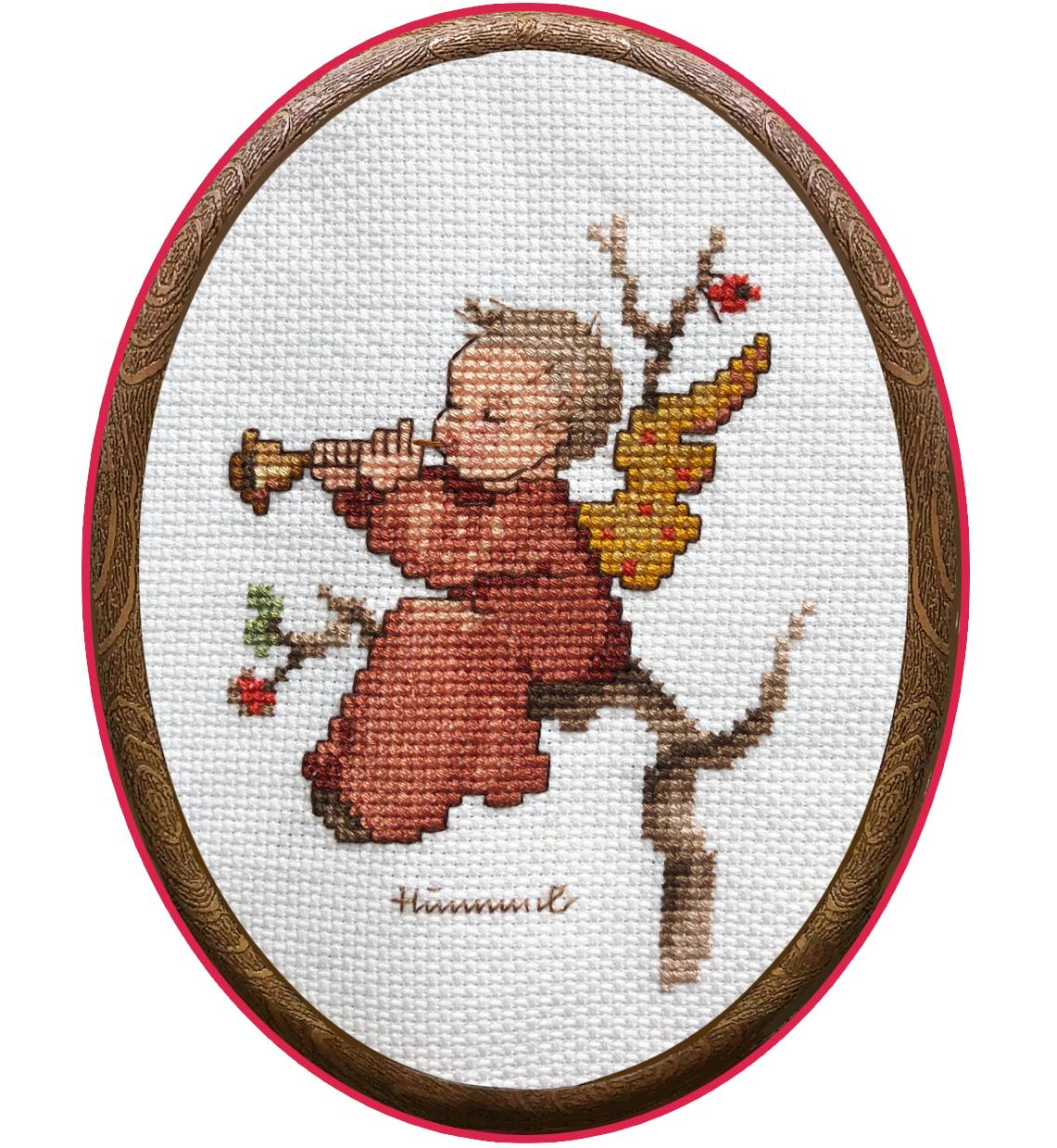 Наборы для вышивания с рамками Ангел со скрипкой и Ангел с дудочкой