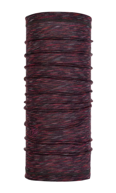 Шерстяной женский шарф-труба Buff Wool Slim Shale Grey Multi Stripes