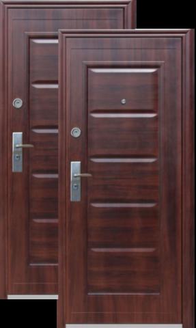 Дверь входная Сибирский Стандарт Kaiser, 2 замка, 1,5 мм  металл, (венге+венге)