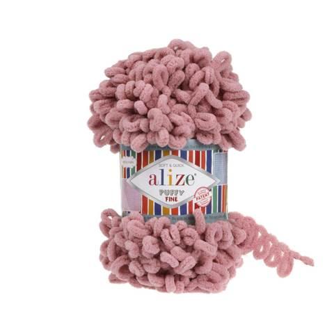 Купить Пряжа Ализе Пуффи Файн Код цвета 295 Сухая роза | Интернет-магазин пряжи «Пряха»