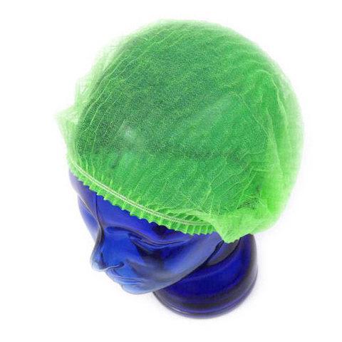 Шапочки одноразовые медицинские Шарлотта зеленые, 100 шт/уп