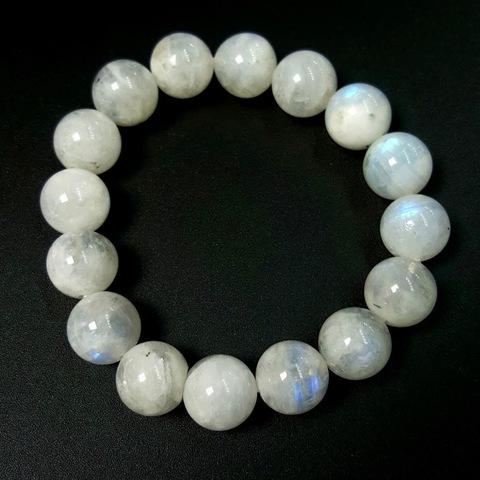 Бусины лунный камень А шар гладкий 12 мм 16 бусин