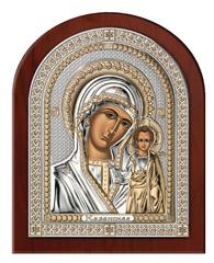 Серебряная икона Богоматери Казанской (эксклюзивная рамка)