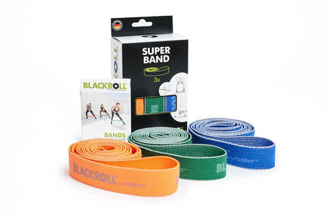 Набор текстильных эспандер-лент BLACKROLL® SUPER BAND (3 шт.)