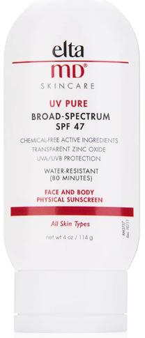 EltaMD UV Pure водостойкое солнцезащитное средство для лица и тела SPF47 114 г