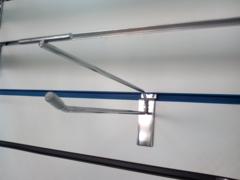 Крючок с ценникодержателем  для экономпанели 300 мм d.4,5 mm  хром, ЭП 019 - 300