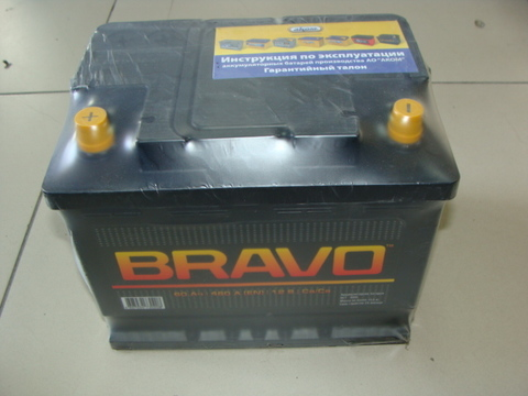 Аккумулятор АКОМ 6СТ-60А3 BRAVO EN 480 (240/190/175)
