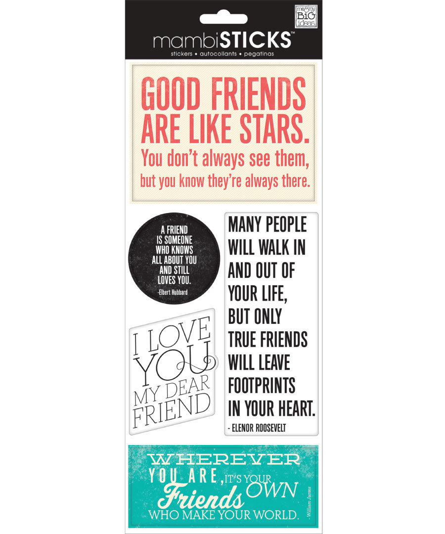 Стикеры mambi Specialty Stickers Good Friends Are Like Stars 13х30 см