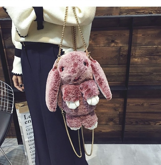 Бордовый-сноу вариант цвета сумки кролика