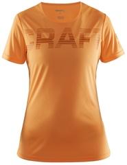 Женская футболка для бега Craft Prime Run Logo 1904342-1563 оранжевая