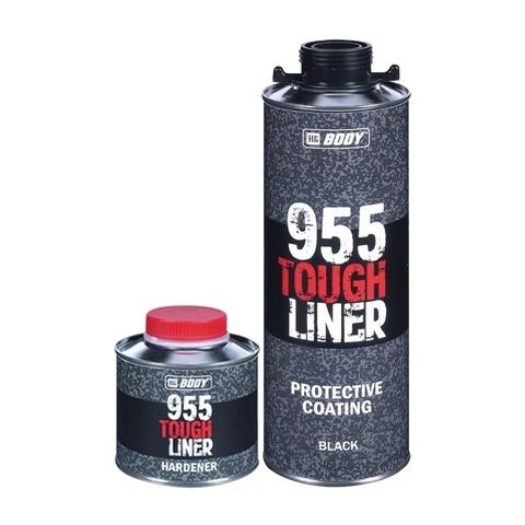 Сверхпрочное защитное покрытие Body TOUGH LINER 955(черн.)(0,6л)+ Отв-ль Body 955 TOUGH LINER(0,2л)