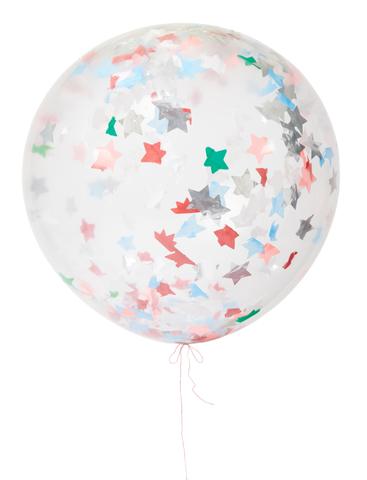 Воздушные шары с конфетти и звездами