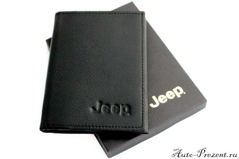 Портмоне для автодокументов из натуральной кожи с логотипом JEEP