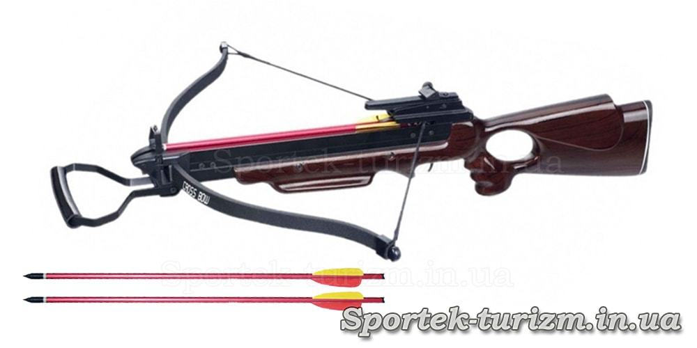 Арбалет винтовочный Man Kung MK-150A3W с деревянным прикладом