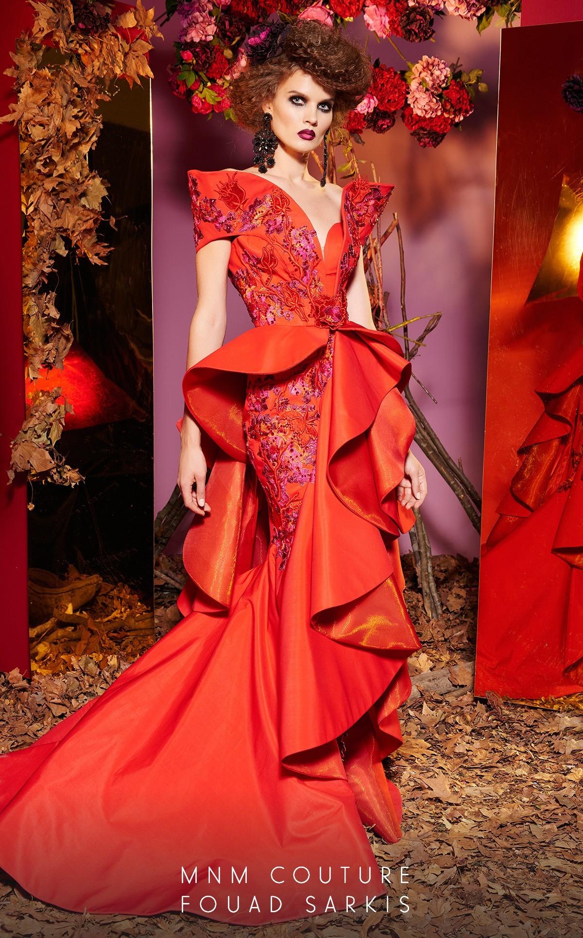 Simone 24282 платье со сложным кроем, длинное со шлейфом