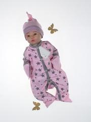 Набор на выписку из роддома зимний Зайченок lux розовый