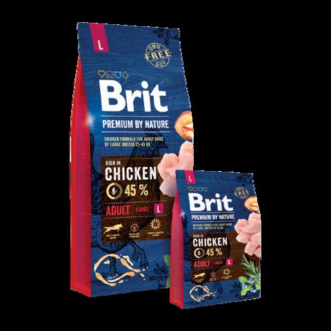 Brit Premium By Nature Adult L Сухой корм для взрослых собак крупных пород