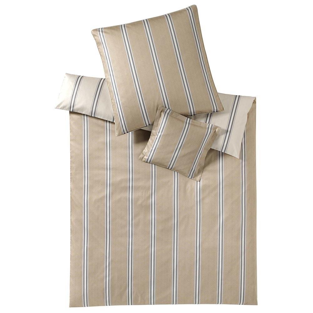 Постельное белье 2 спальное евро Elegante Cascade бежевое