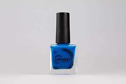 Лак для стемпинга Swanky Stamping №014, неоново-синий , 10 мл.
