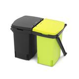 Ведро д/мусора двухсекционное (2х10л) встраиваемое, артикул 482205, производитель - Brabantia