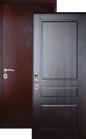Дверь входная Falko Арктика Люкс, 1 замок, 2 мм  металл, (медь антик+венге NEW)