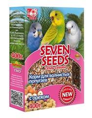 Корм для волнистых попугаев с орехом Seven Seeds Special