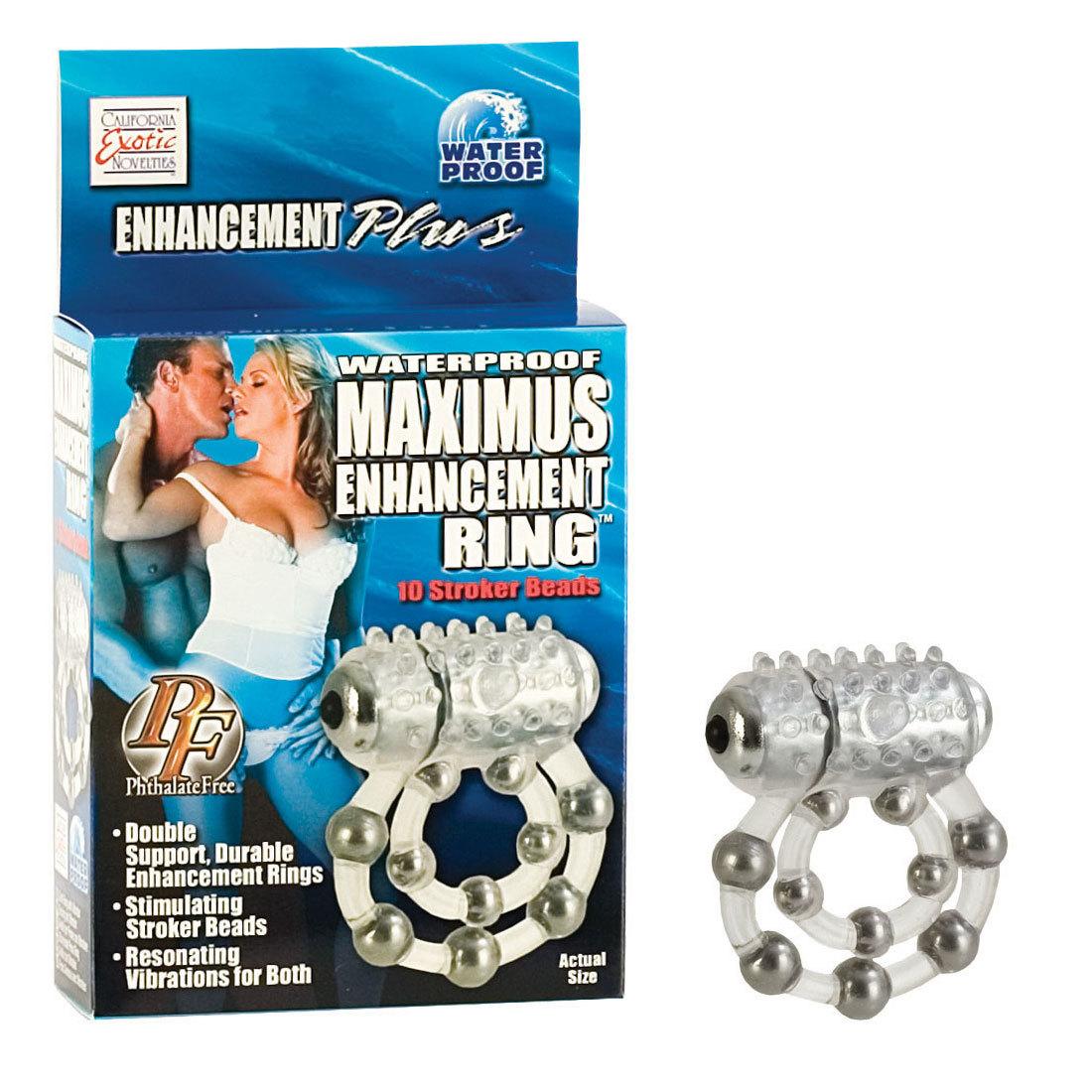 Эрекционные кольца: Эрекционное кольцо с массажными шариками и мини вибратором