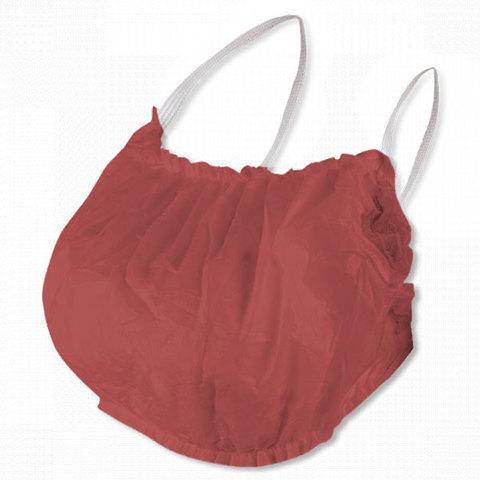 Одноразовый бюстье-топик с открытой спиной, бордовый, спанбонд (уп.10шт.)