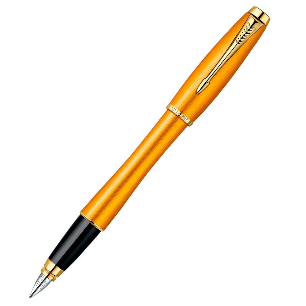 Parker Urban Premium - Mandarin Yellow GT, перьевая ручка, F