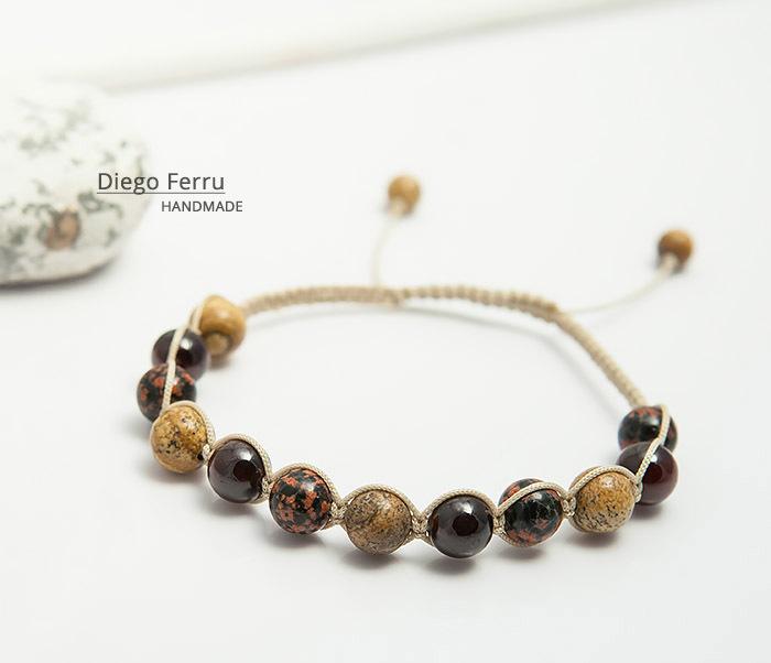 BS744 Красивый мужской браслет ручной работы, Diego Ferru