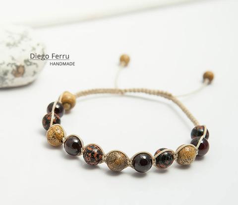 Красивый мужской браслет ручной работы, Diego Ferru